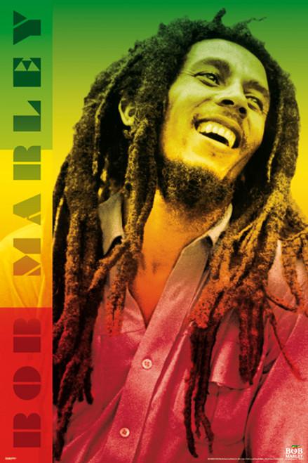 """Bob Marley Colors Poster 24"""" x 36"""" Image"""