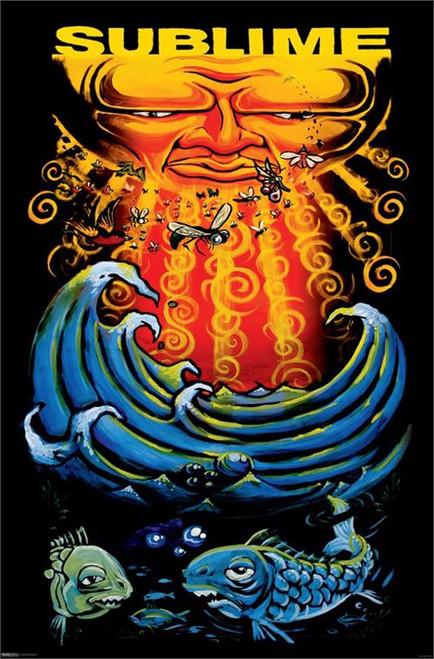 "Sublime - Sun & Fish Poster 24"" x 36"" Image"