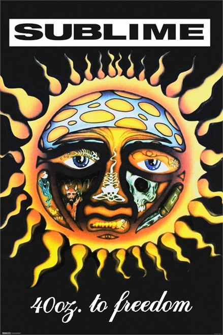 """Sublime - 40 Oz. To Freedome Poster 24"""" x 36"""" Image"""