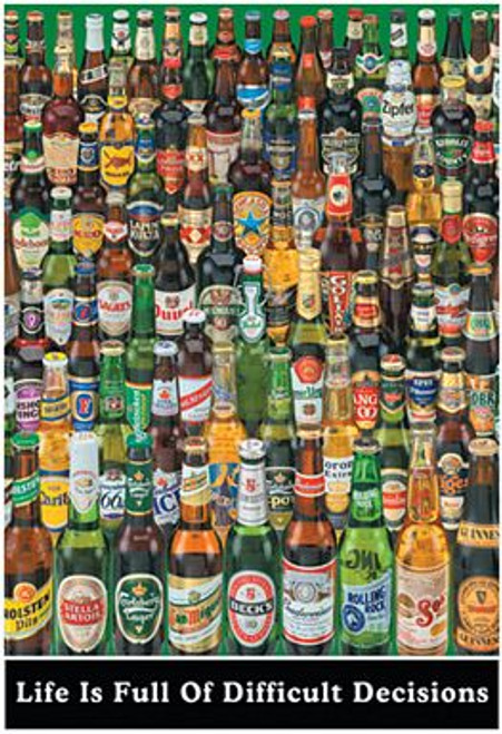 """Beer Decisions Poster 24"""" x 36"""" Image"""