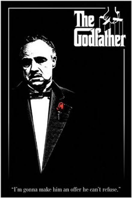 """Godfather Red Rose Poster 24"""" x 36"""" Image"""