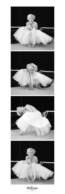 Marilyn Monroe Ballerina Seq Slim Print Poster - 12 x 36 Image
