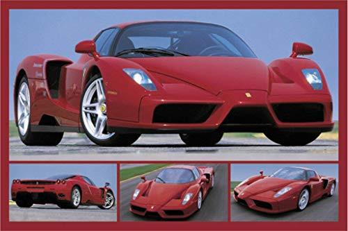 "Tribute to Enzo (Ferrari) Sports Car Poster 36""x24"""