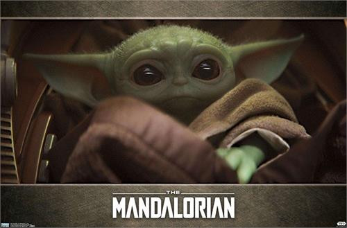 "Star Wars The Mandalorian - Baby Yoda Poster - 34"" x 22.375"""