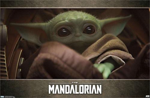 "Star Wars The Mandalorian - Baby Yoda Poster - 34"" x 22.375"""