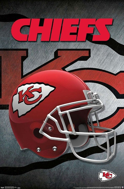 "NFL Kansas City Chiefs - Helmet Poster - 22.375"" x 34"""