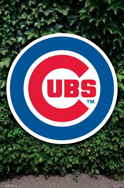 "MLB Chicago Cubs - Logo Poster - 22.375"" x 34"""