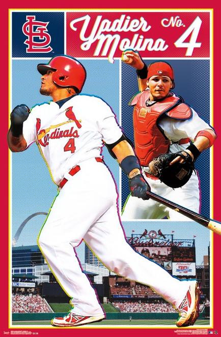 """MLB St. Louis Cardinals - Yadier Molina Poster - 22.375"""" x 34"""""""