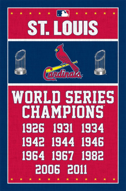 "MLB St. Louis Cardinals - Champions Poster - 22.375"" x 34"""