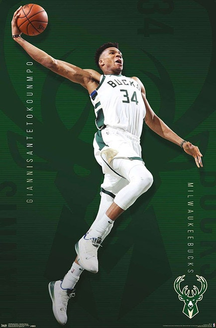 """NBA Milwaukee Bucks - Giannis Antetokounmpo Poster 22.375"""" x 34"""""""
