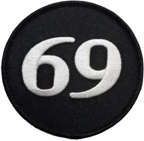 "69 Embroidered Sew On Patch - 3"" Round Image"