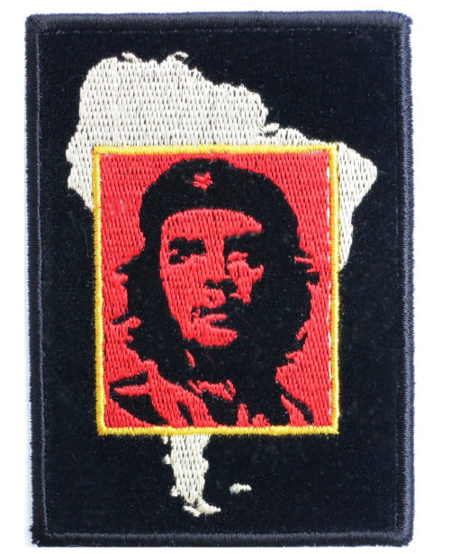"""Che Guevara South America - Woven Sew On Patch 3"""" x 3.75"""" Image"""