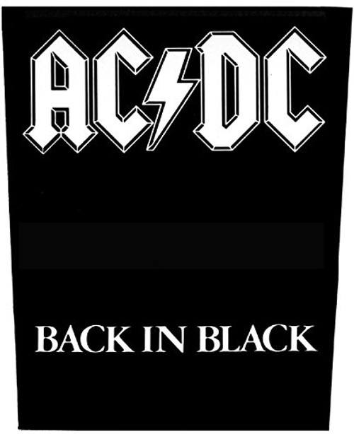 """AC/DC Back In Black Back - Woven Back Patch 11.25"""" x 14"""" Image"""