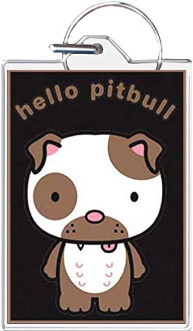 Hello Pitbull Keychain