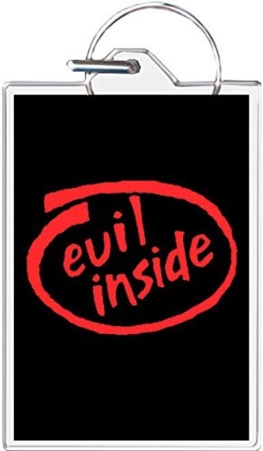 Evil Inside Keychain
