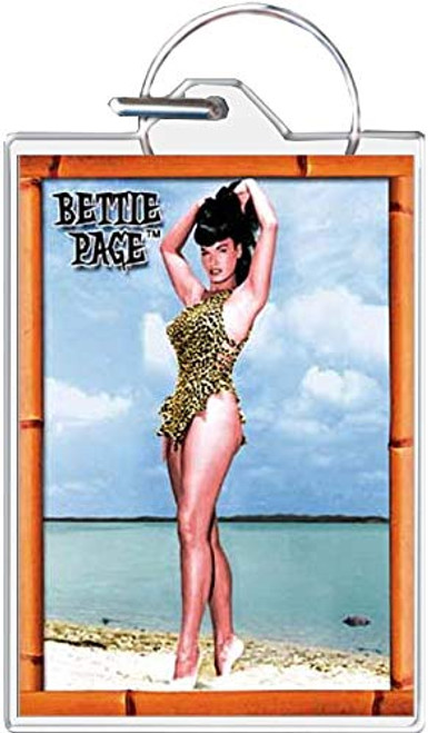 Bettie Page - Beach Keychain
