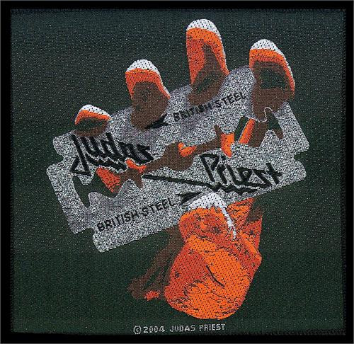 "Judas Priest - British Steel - Woven Sew On Patch 4"" x 3.5"" Image"