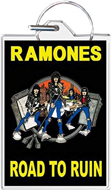Ramones Road to Ruin Keychain