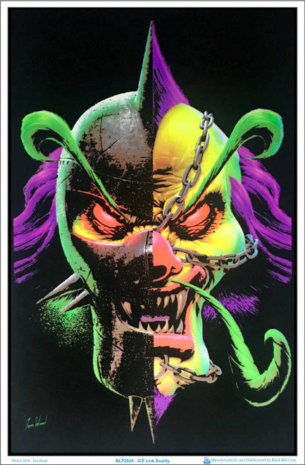 Insane Clown Posse ICP Link Duality by Tom Wood Blacklight Poster Image
