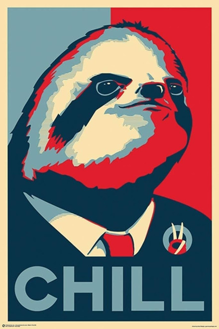 Vote Sloth - Chill Poster Image
