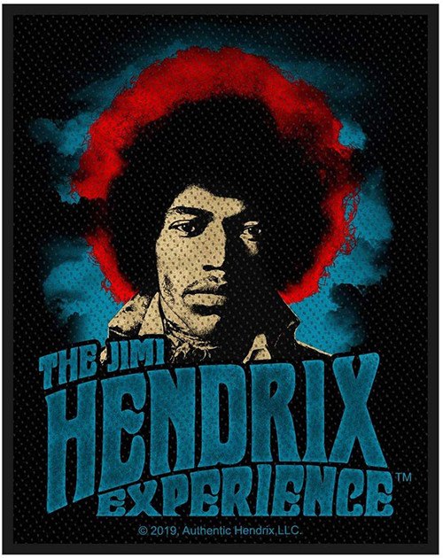 The Jimi Hendrix Experience Woven Sew On Patch 8cm x 10cm