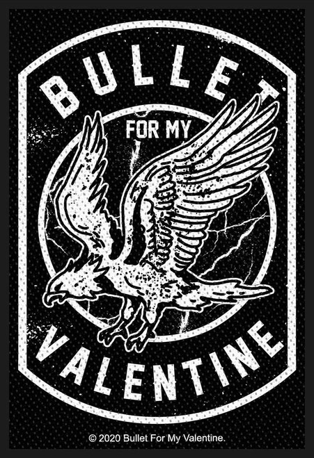 Bullet For My Valentine - Eagle Woven Sew On Patch 7cm x 10cm