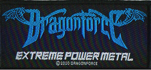 Dragonforce - Extreme Power Metal Woven Sew On Patch 5cm x 10cm
