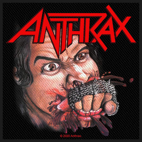 Anthrax - Fistfull Of Metal Woven Sew On Patch 10cm x 10cm