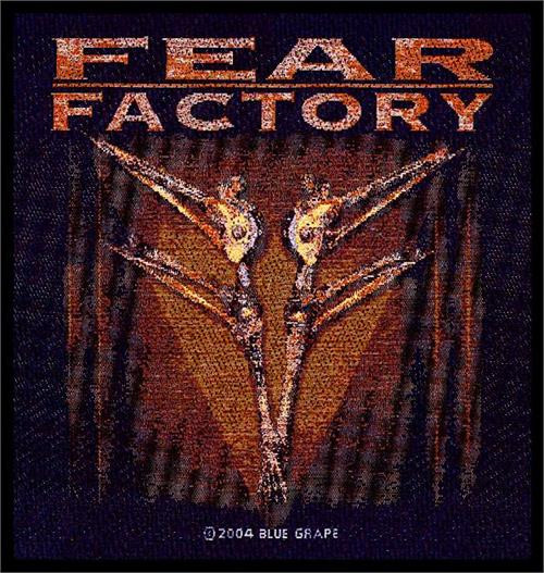 """Fear Factory Archetype - Woven Sew On Patch 4"""" x 4"""" Image"""