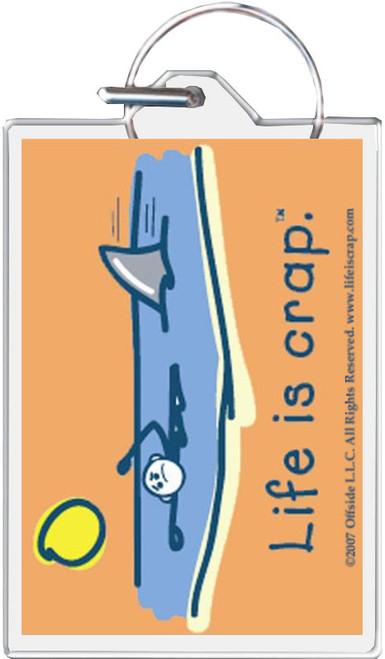 Life Is Crap - Swimming Keychain