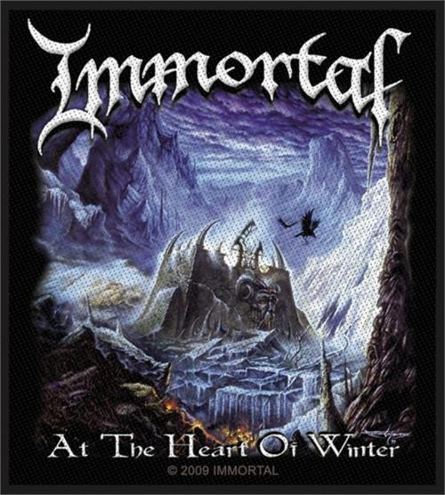 """Immortal At The Heart Of Winter - Woven Sew On Patch 3.35"""" x 4"""" Image"""