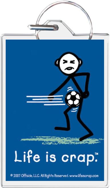 Life Is Crap - Soccer Balls Keychain