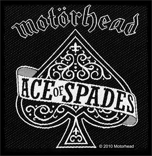 """Motorhead Ace Of Spades - Woven Sew On Patch 4"""" x 4"""" Image"""