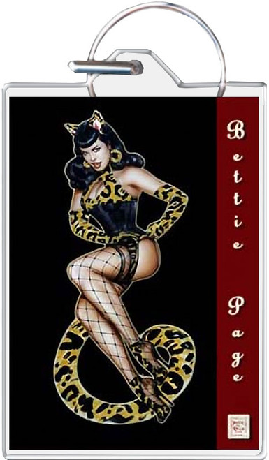 Bettie Page Tiger Girl Keychain