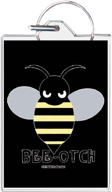 Bee-Otch Keychain
