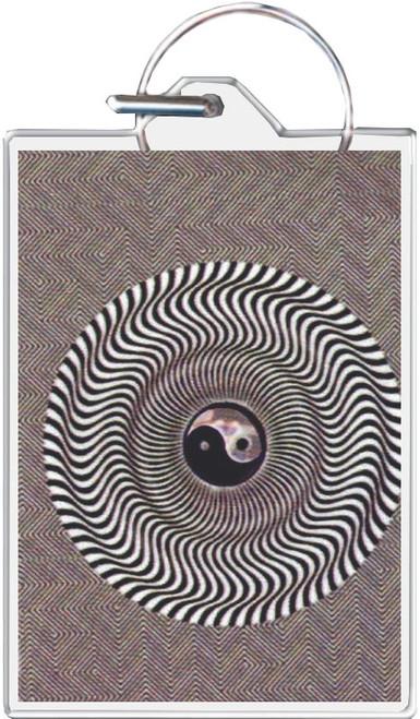 Orbital Yin Yang Keychain