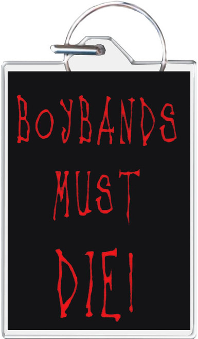 Boy Bands Must Die! Keychain