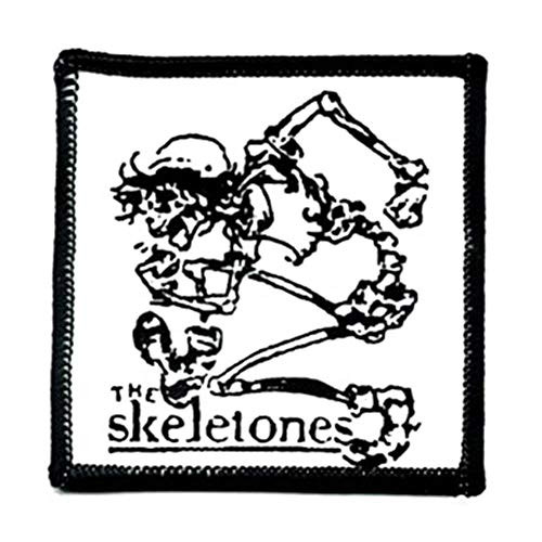 "The Skeletones - Iron On Embroidered Patch 3"" x 3"" Image"