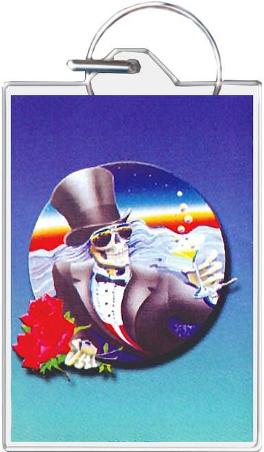 Grateful Dead Tophat Skull Keychain
