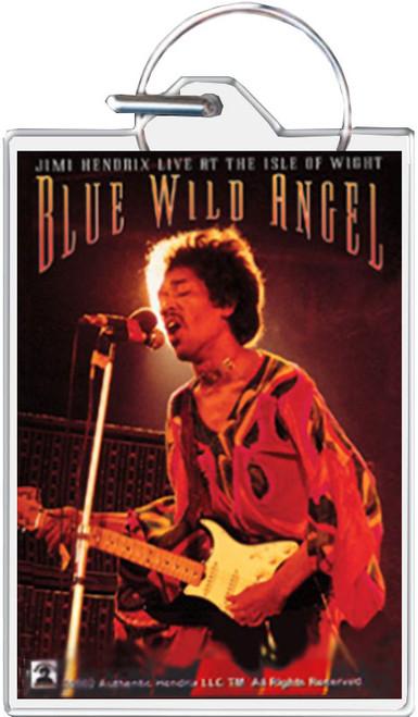 Jimi Hendrix - Blue Wild Angel Keychain