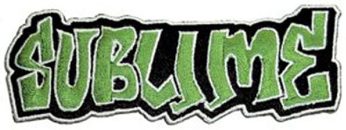"""Sublime Logo - Iron On Embroidered Patch 4"""" x 1.75"""" Image"""
