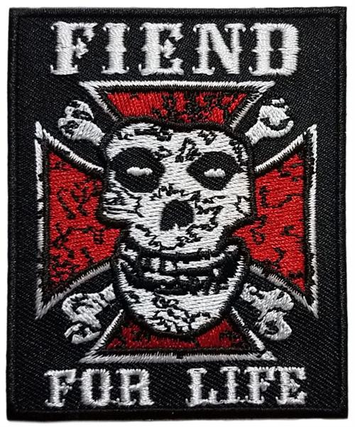 "Misfits Fiend For Life - Embroidered Sew On Patch 2 1/2"" X 3"" Image"