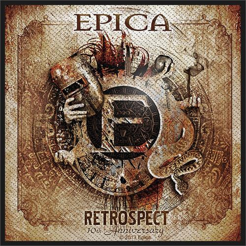 """Epica Retrospect - Woven Sew On Patch 4"""" x 4"""" Image"""