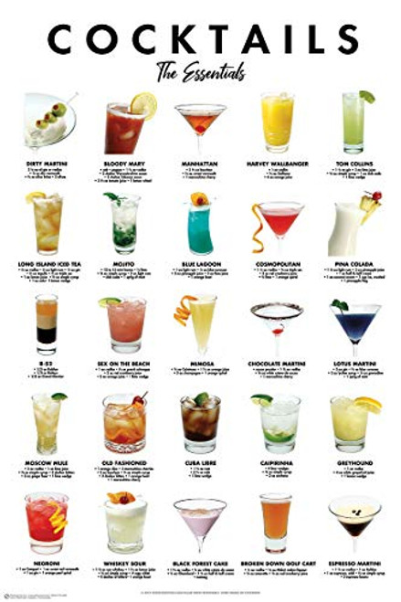 Cocktails - The Essentials Poster Print (24x36)
