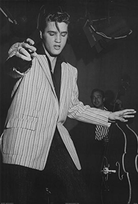 Elvis Presley White Jacket Music Poster Print 24 x 36in
