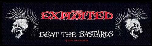 "Exploited Beat the Bastards - Woven Sew On Patch 8"" x 2.25"" Image"