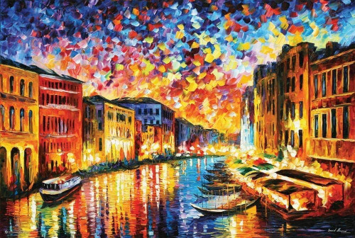 Venice Grand Canal Poster by Leonid Afremov Poster 36 x 24in