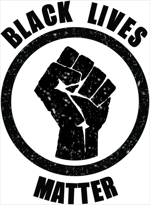 "Black Lives Matter Fist Mini Poster - 11"" x 17"""