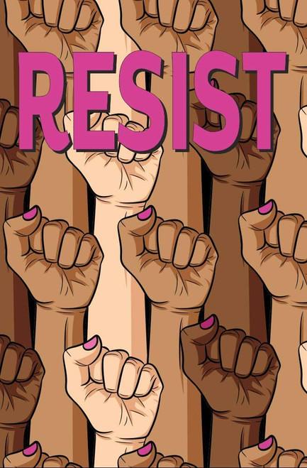"""Female Resist Fist Mini Poster - 11"""" x 17"""""""
