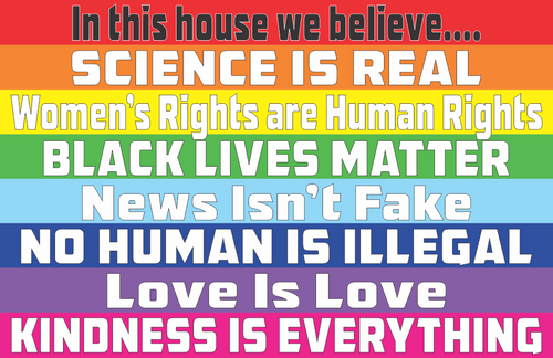 "In This House We Believe Mini Poster - 11"" x 17"""